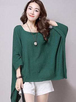 Ericdress Asymmetric Huge Sleeve T-Shirt