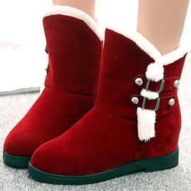 Ericdress Lovely Suede Furry Snow Boots
