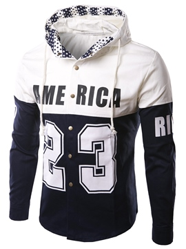 Ericdress Hood Thin Casual Print Men's Jacket