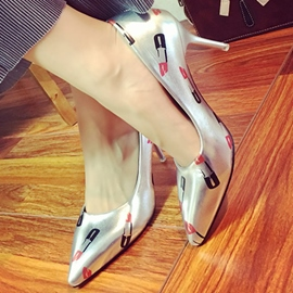 Ericdress Lipstick Print Point Toe Pumps