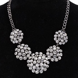 Ericdress Full Rhinestone Pendant Necklace