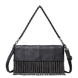 Ericdress Vintage Patchwork Tassel Shoulder Bag
