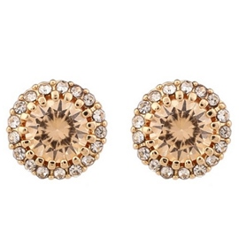 Ericdress Sparking Zircon Stud Earrings