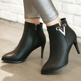 Ericdress Fashion Metal Decorated Point Toe Knight Boots