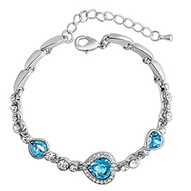 Ericdress Heart Shaped Crystal Bracelet