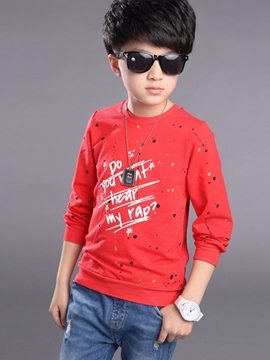 Ericdress Casual Graffiti Printing Boy's Top