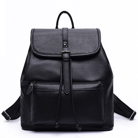 Ericdress Soft Pure Color PU Backpack