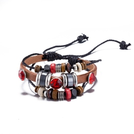 Ericdress Multilayer Retro Ruby Inlaid Bracelet