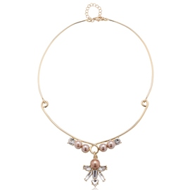 Ericdress Graceful Pink Pearls Pendant Necklace
