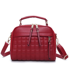 Ericdress Korean Grained PU Handbag