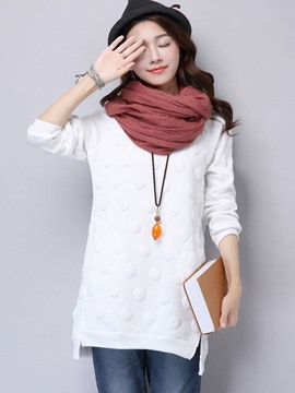 Ericdress Solid Color Loose Cool Hoodie
