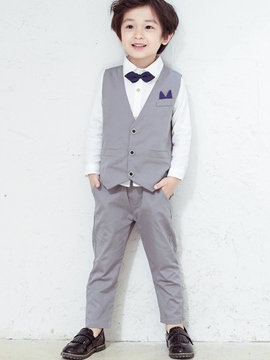 Ericdress Korean Vest Bowknot Three-Piece Boys Outfits