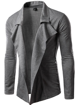 Ericdress Plain Unique Casual Cardigan Men's Jacket