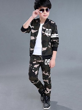 Ericdress Korean Camo Thread Collar Two-Piece Boys Outfits