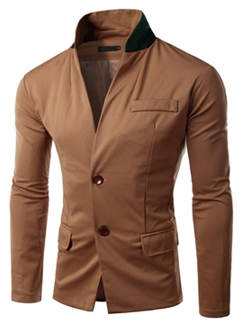 Ericdress Stand Collar Casual Men's Woolen Jacket