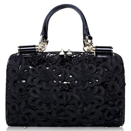 Ericdress Celebrity Lace Floral Embroidery Handbag
