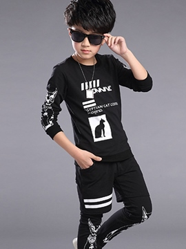 Ericdress Animal Printed Patchwork Two-Piece Boys Outfits
