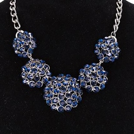Ericdress Blue Rhinestone Inlaid Alloy Necklace