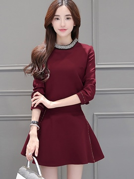 Ericdress Fashion Skirt Suit