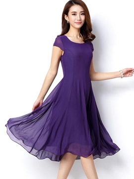 Ericdress Sweetheart Chic Soild Color Casual Dress