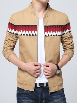 Ericdress Print Zip Slim Men's Jacket