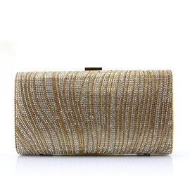 Ericdress Shiny Curvy Beaded Evening Clutch