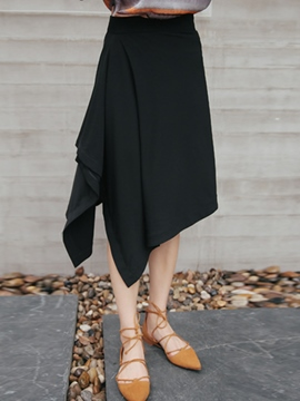 Ericdress Asymmetric Usual Skirt