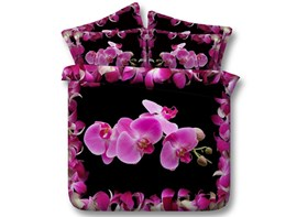 Ericdress Butterfly Orchid Print 3D Bedding Sets