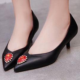 Ericdress Special Rhinestone Point Toe Pumps
