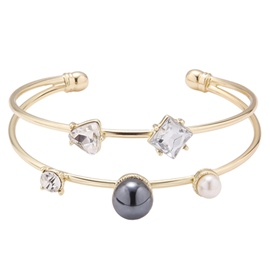 Ericdress Double Layers Gold Plated Bracelet