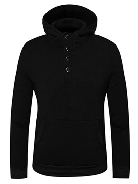 Ericdress Plain Simple Casual Pullover Men's Hoodie