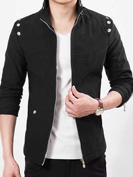 Ericdress Stand Collar Vogue Zip Men's Jacket