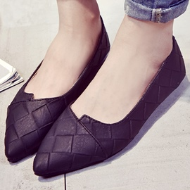 Ericdress Simple Grid Point Toe Flats