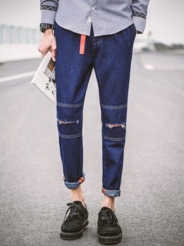 Ericdress Holes Denim Street Style Men's Pencil Jeans