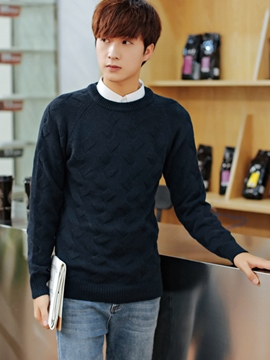 Ericdress Crewneck Pullover Vogue Jacquard Men's Sweater
