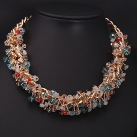 Ericdress Luxurious Short Crystal Necklace