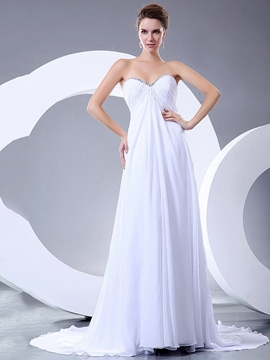 Ericdress Simple Sweetheart Empire Chiffon Wedding Dress