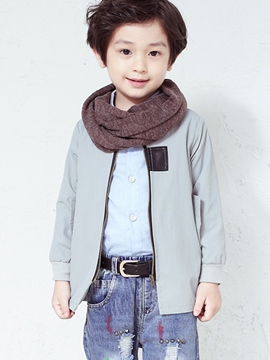 Ericdress Leather Patchwork Collarless Pure Boys Outerwears