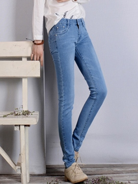Ericdress Simple Classical Jeans