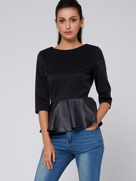 Ericdress Three-Quarter Peplum T-Shirt