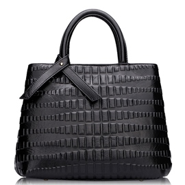 Ericdress Novelty Geometric Embossed Handbag