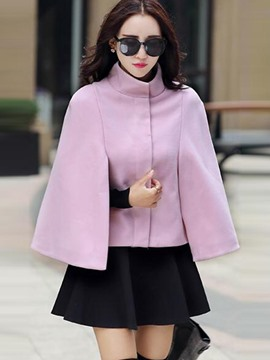 Ericdress Solid Color Stand Collar Cape