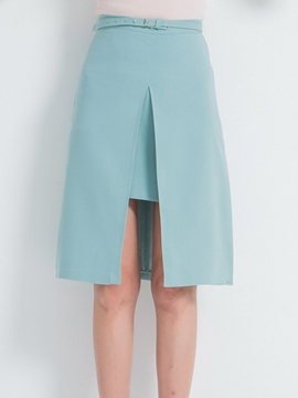 Ericdress Simple Split Column Skirt