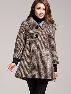 Ericdress Loose Solid Color A-Line Coat
