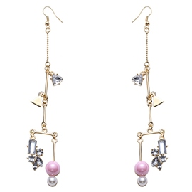 Ericdress Pink Pearl Inlaid Earrings