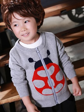Ericdress Cotton Knitting Animal Tee Zipper Boys Tops