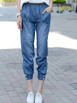 Ericdress Casual Seven Points Jeans