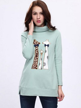 Ericdress Animal Printed Stand Collar Cool Hoodie