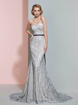 Ericdress Beautiful Strapless Mermaid Color Wedding Dress