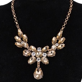 Ericdress Charming Yellow Crystal Necklace